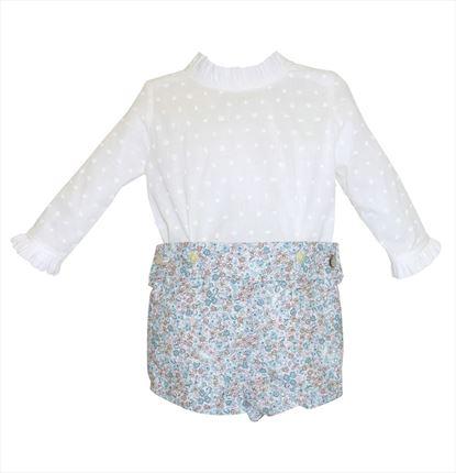 92d0350fa Conjunto de bebé camisa plumeti y pantalón estampado ...