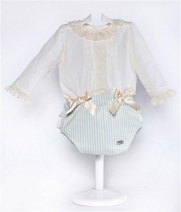 63c1a5cd3 Conjunto de bebé camisa plumeti y braguita villela Ref. 5200